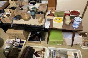 寿山石文鎮や茶碗など